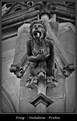 Gargoyles - 30 (fotomänni) Tags: prag prague praha gargoyles gargouille wasserspeier skulptur skulpturen veitsdom blackwhite schwarzweis noirblanc manfredweis