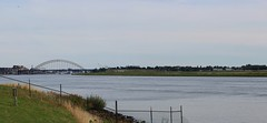 "River ""De Lek"" with a view of the bascule bridge near the city Alblasserdam. (♥ Corry ♥) Tags: river rivier bridge brug bascule water landscape landschap banks oever summer zomer netherlands nederland holland dutch canon sky lucht panorama"