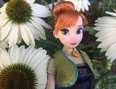 Anna (Foxy Belle) Tags: doll disney frozen fever garden plants outside nature anna flower cone white