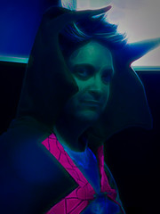 The Dark Lord (Steve Taylor (Photography)) Tags: art digital costume blue pink mauve black purple green teal eerie spooky weird strange odd man newzealand nz southisland canterbury christchurch armaggedon
