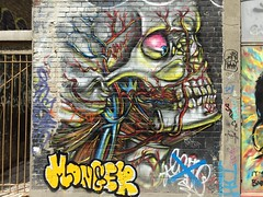 Toronto 2017 (bella.m) Tags: graffiti streetart urbanart toronto canada art graffitialley rushlane skull