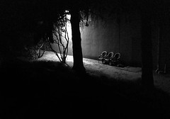 Chairs... 20170708_2384 (listorama) Tags: chair night usa washington kent greenrivertrail triking bw