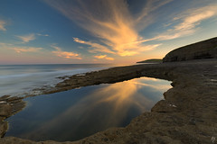 Dancing Ledges (fearghal breathnach) Tags: dancingledges reflection reflections sunset clouds rockpool seascape longexposure jurassiccoast dorset landscape nisifilters leefilters indurotripods