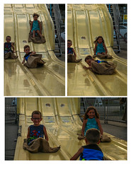 Three Stages of the Super Slide (KC Mike D.) Tags: carnival slide kids three slippery yellow fun amuesement