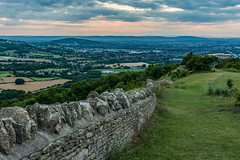 Crickley Hill Sunset (Russell Discombe) Tags: sunset gloucestershire nikon nikond610 d610 sigma sigma24105 wall drystonewall trees landscape sky redsky pinksky green outdoor clouds