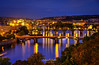 Golden City at Night (grothe.manuel) Tags: goldencity prague bridges nightlights longtermexposure hdr europe nikond810 nikon24120mmf40 river moldau night gold bluehour