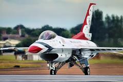 Thunderbird (Mrs Airwolfhound) Tags: thunderbird planes riat air tattoo 2017 canon 70d airshow aircraft jets explore