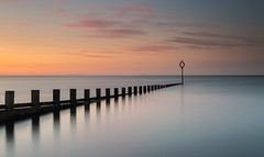 East Coast Sunset (simpletones) Tags: portobello sunset groyne sea edinburgh scotland long exposure