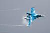 SU-27 Flanker, Ukrainian Air Force (Peter Starling) Tags: airtattoo fairford peterstarling riat su27 totterdown vapor vapour
