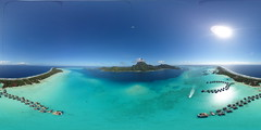 Kite Aerial Panorama on Bora Bora