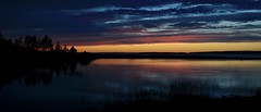 _DME1229 (earlesd) Tags: topsail beach newfoundland canada sunset silhouette shore shoreline sea ocean pond water coast