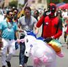 Deadpool on a unicorn (San Diego Shooter) Tags: pride sandiegopride pride2017 gay gaypride portrait streetphotography sandiego hillcrest