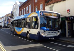 Stagecoach South 27654 (GX10 KZG) Chichester 18/7/17 (jmupton2000) Tags: gx10kzg alexander dennis enviro 300 coastliner 700 stagecoach south uk bus southdown coastline sussex