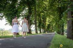 Their path (grimaux.jordan) Tags: choice path lesbian gay homosexual wed wedding nature way road trees look happy happiness girls women wives handtohand hand