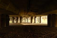 Hidden in the shadow (Ostravak83) Tags: ostrava nikoncoolpix most bridge slezskáostrava silesianostrava město city pilíř pillar stín shadow světlo light bazaly beton concrete evropa europe streetlife