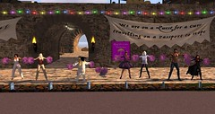 RFL 2017 - Pj's and Coffee! (Osiris LeShelle) Tags: secondlife second life avilion rfl sl relay for quest cure track pom poms dancing cheering staying awake pjs coffee