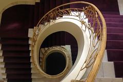 Violet hill (Elbmaedchen) Tags: staircase stairwell stairs treppenhaus treppenauge treppenstufen downstairs wendeltreppe spirale spirals escaliers