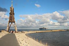 Cuxhaven Kugelbake (Elbmaedchen) Tags: nordsee küste northsea cuxhaven cux kugelbake landzunge maersk elbe markierung orientierungspunkt mündung