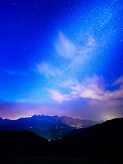 Milky Way over Dachstein (Wolfgang Hackl) Tags: austria salzburg trinkeralm alps nightscape milkyway lights lightning