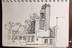 Relikt aus kommunistischen Zeiten (Łeba, Polen) (Jungle-Jill) Tags: architecture sketching urban drawing sketch poland łeba