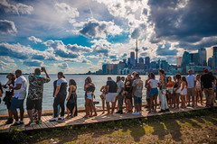 Queue along the skyline (A Great Capture) Tags: queue lineup rebel like people view skyline toronto agreatcapture agc wwwagreatcapturecom adjm ash2276 ashleylduffus ald mobilejay jamesmitchell on ontario canada canadian photographer northamerica torontoexplore summer summertime été 2017
