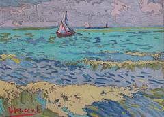 Vue de la mer près les Saintes-Maries-de-la-mer - Arles - Van Gogh - 1888_0 (Luc II) Tags: vangogh arles saintesmariesdelamer