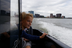 Watertaxi ride (jmtennapel) Tags: familie rotterdam zuidholland netherlandsthe nl watertaxi boat river boot maas skyline urbanenvironment