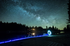 Milky Way Fichtelsee (Heiko P.) Tags: fujixt2 heikoprechtl langzeitbelichtung lightpanting milchstrasse milkyway see astro astrographie cosmos galcia light night panorama photography stars sterne