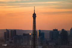 Skyline (MF[FR]) Tags: paris îledefrance france europe samsung nx1 ciel sky toureiffel eiffel tower ladéfense business district montparnasse sunset golden hour heure dorée