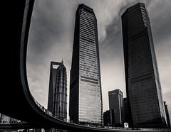 curve of Lujiazui (Rob-Shanghai) Tags: shanghai lujiazui china city mono cityscape overpass rx10m2 jinmao wfc towers skyscrapers