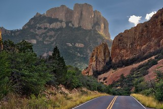 On the Road in the Mountains of Big Bend National Park