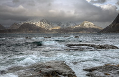 Lofoten coast (Joost10000) Tags: myrland lofoten islands lofotenislands nordland norway norge noorwegen norwegen sea arctic ocean atlantic coast coastline mountains winter waves wild wilderness scenic nature natur epic outdoors canon canon5d eos scandinavia europe march hdr rock rocks travel