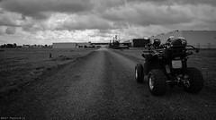 Freedom on the Sunday morning. (PhotoTJH) Tags: westzaan noordholland netherlands phototjh phototjhnl quad 250cc lyda 203e1 203e2 203 egl motor eglmotor zaanstad black white zwartwit bw motorpromo