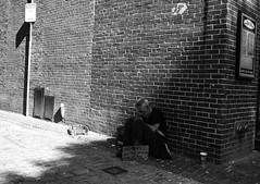 Untitled (Howard Yang Photography) Tags: bw blackandwhite homeless leicam8 leica streetphotography boston