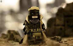 Nightmare Batman (Jezbags) Tags: lego legos toys toy minifigure minifigures macro macrophotography macrodreams macrolego canon60d canon 60d 100mm closeup upclose dc dclego legodc batman knightmare apocalypse rocks stones gun
