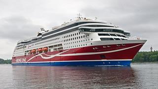 The ferry Viking Grace leaving Stockholm