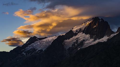 France - Sunrise above La Meije