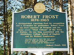 Robert Frost Historic Marker (jimmywayne) Tags: vermont ripton addisoncounty marker historic robertfrost