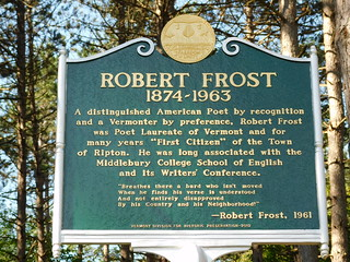 Robert Frost Historic Marker