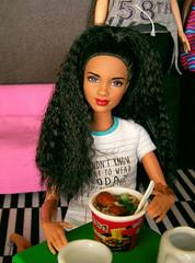 Salma (ArtCat80) Tags: barbie mbili made move mattel yoga ikea food doll
