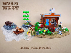 The New Frontier (-Wat-) Tags: lego cowboy wildwest western rockymountains colorado nature wildlife wilderness frontier history bear animal sheriff