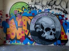 E-M1MarkII-13. Juli 2017-15-38-40 (spline_splinson) Tags: consonno graffiti graffitiart graffity italien italy lostplace losttown ruin ruinen ruins skull lombardia it