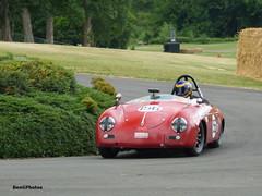 Ernie Nagamatsu - 1958 Porsche 356 Speedster (BenGPhotos) Tags: 2017 chateau impney hill climb race racing motorsport autosport motor sport sports car classic red ernie nagamatsu 1958 porsche 356 speedster