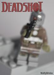 Portrait:  Deadshot (WattyBricks) Tags: lego dc comics superheroes floyd lawton deadshot gotham rogues gallery minifigures batman suicide squad