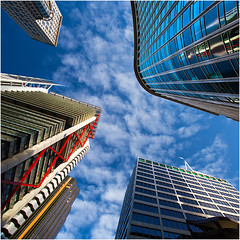 Sydney skyscrapers (beninfreo) Tags: sydney australia newsouthwales now building architecture tower skyscraper polarised saturated vibrant canon manfrotto 5d3 5dmarkiii