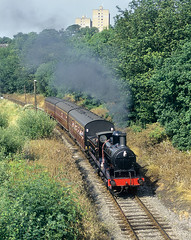 Grey Smoke Near Ingrow. (neilh156) Tags: steam steamloco steamengine steamrailway railway 1300 woodhouselane ingrow keighleyworthvalleyrailway kwvr worthvalleyrailway lancashireyorkshirerailwayclass27 aclass lancashireyorkshirerailway ly aspinall