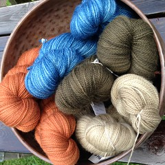 Nature's colors (lady-ursula) Tags: hollyhock indigo madder oregano superwash sockyarn fingeringweight wool