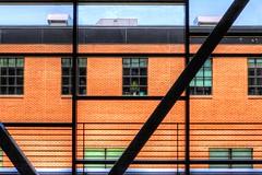 My Window is Bigger (clarkcg photography) Tags: windows smallwindow largewindow panes plates brick metal beams windowwednesday