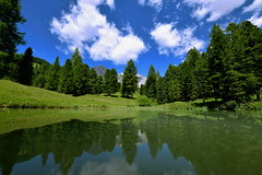 Reflection on an alpine lake (gio_artioli) Tags: dolomites lake reflections