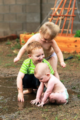 After rain playing (120) (deserttrumpet) Tags: mud kids water playing muddy messy rain puddle splash